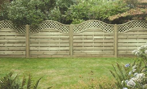 Omega Lattice Top Fence Panel
