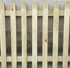 Round Top Picket Fence Panel