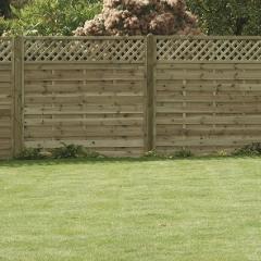 Horizontal Lattice Top Fence Panel