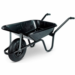 85 Litre Black  Wheelbarrow Pneumatic Wheel