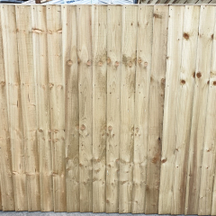 Green Feathered Edge Fence Panel