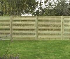 Slatted Fence Panel